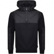 BOSS HUGO BOSS Hodded Half Zip Sweatshirt Navy